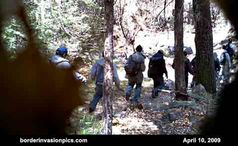 illegal aliens on a popular trail