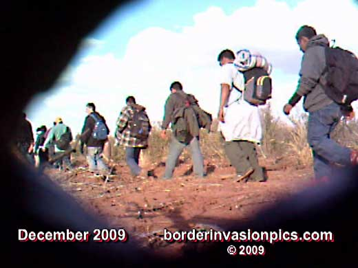 December, 2009 line of suspected border intruders