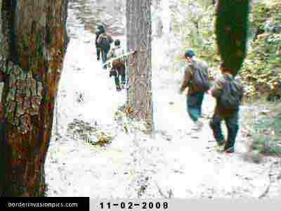 Illegal aliens on remote trail